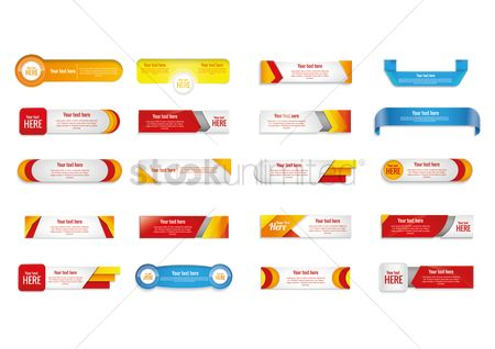 Sample text : Set of banner designs