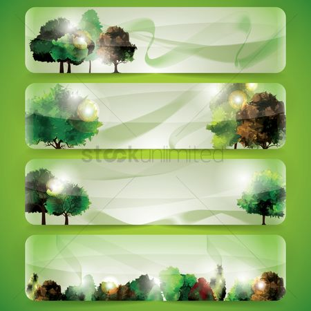 Nature : Set of banner designs