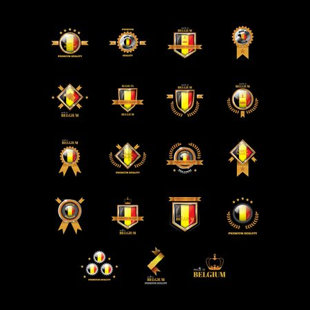 Patriotic : Set of belgium badges