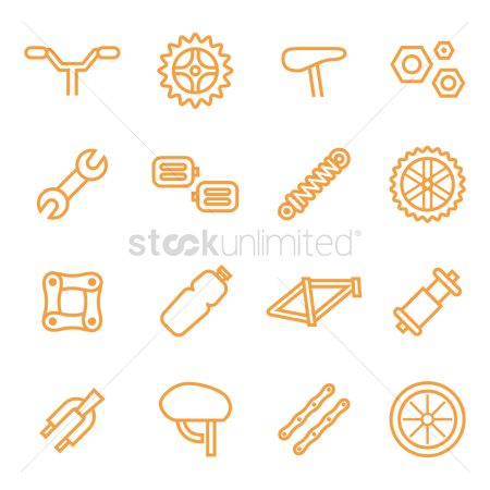 Stems : Set of bicycle icons