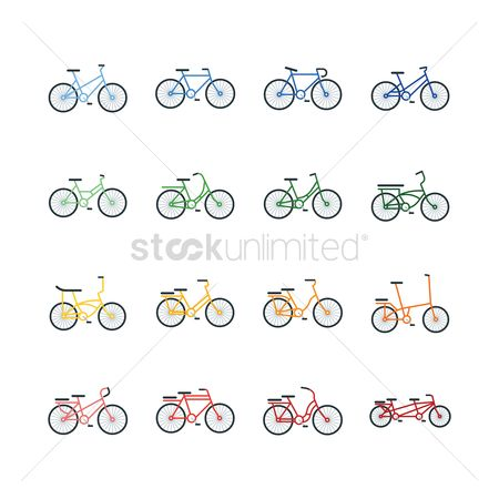 Bike : Set of bicycle icons