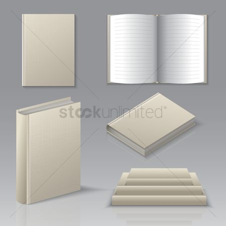 Hardcovers : Set of books icons