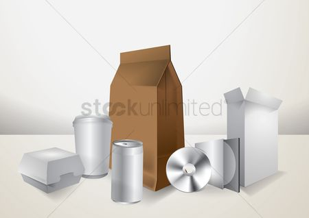 Take away cup : Set of boxes and packages