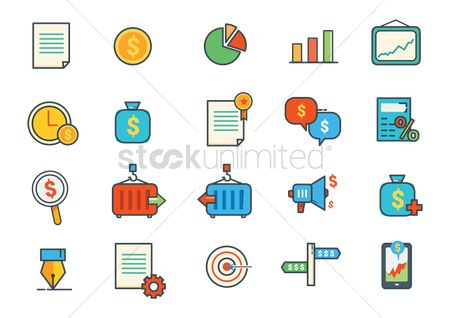 Plus : Set of business icons