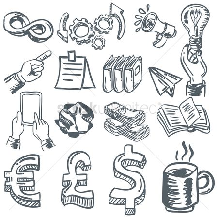 Microphones : Set of business icons