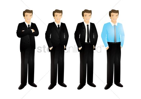 Businesspeople : Set of businessmen