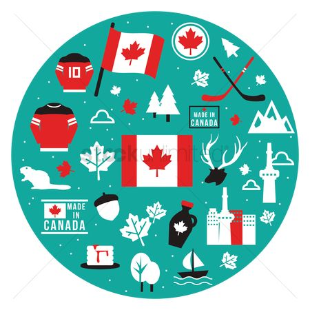 Patriotic : Set of canada icons