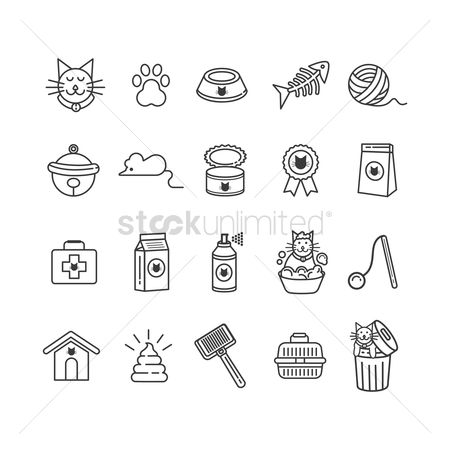 Badge : Set of cat icons