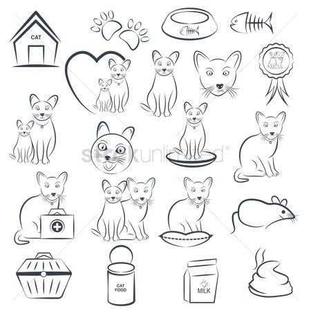 Insignia : Set of cat icons