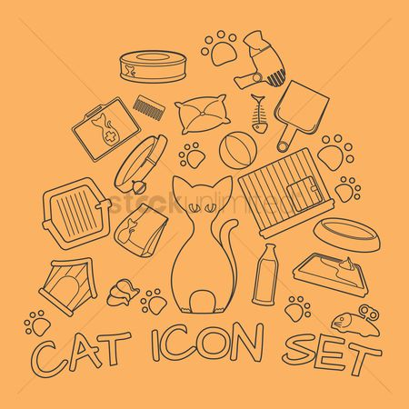 Biscuits : Set of cat icons