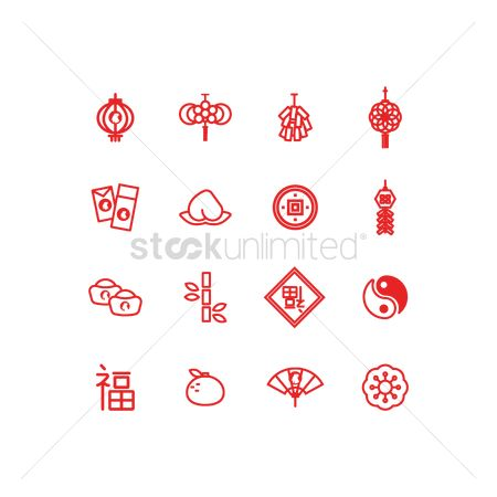 Zen : Set of chinese new year icons