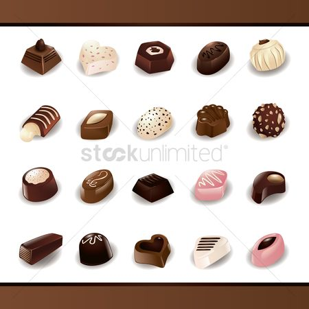 Confections : Set of chocolate candies