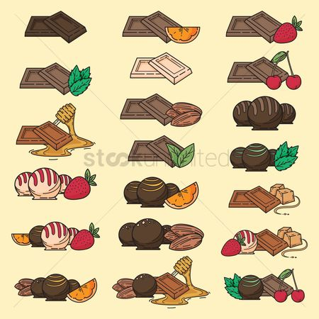 Flavors : Set of chocolates with different flavors