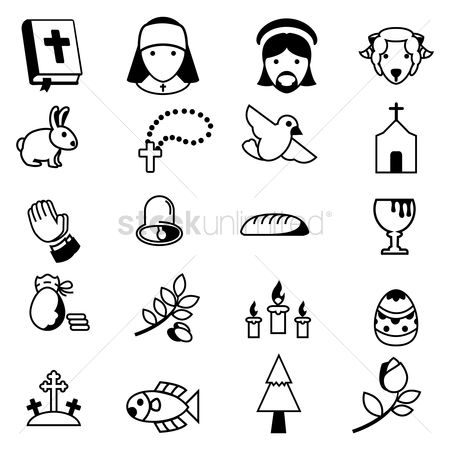 Wheats : Set of christian icons