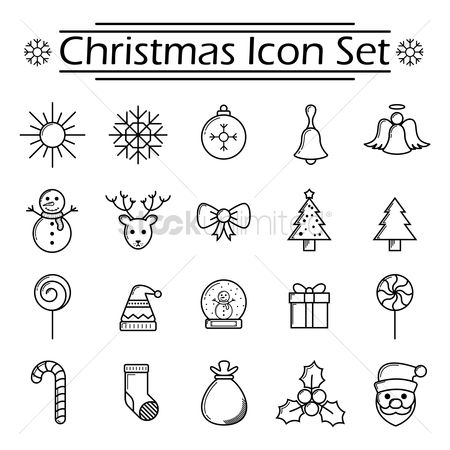 Sock : Set of christmas icons