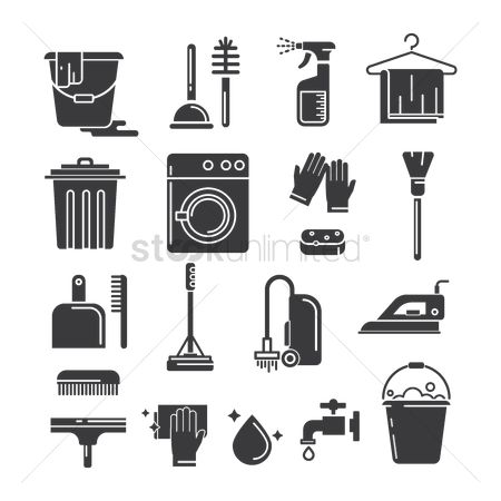 Cleaner : Set of cleaning icons