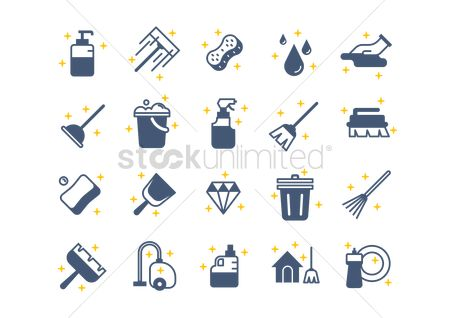Chores : Set of cleaning tools
