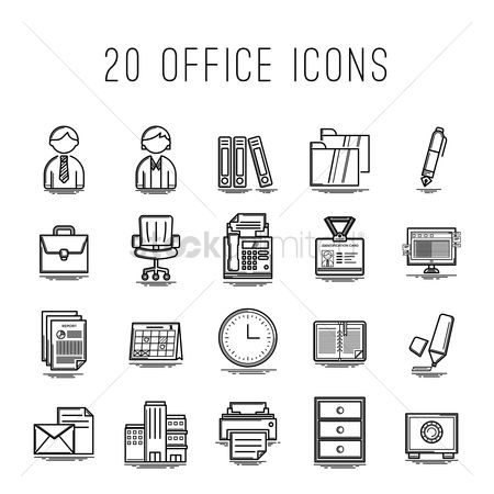 Briefcase : Set of coffee icons