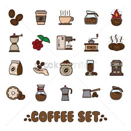Dripping : Set of coffee icons