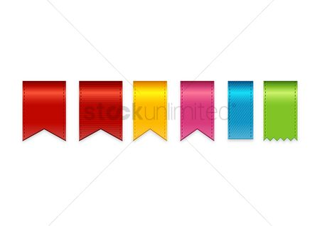 Decorations : Set of colorful ribbons