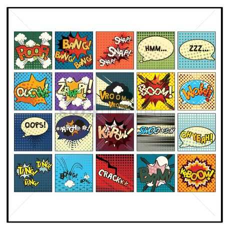 Snaps : Set of comic speech bubbles