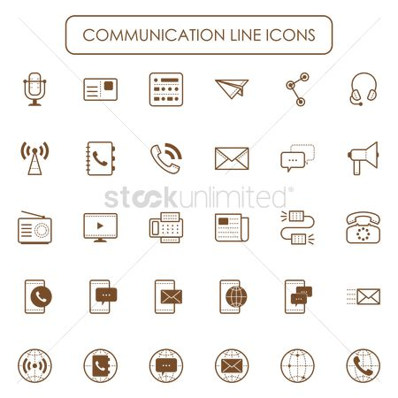 Address : Set of communication icons