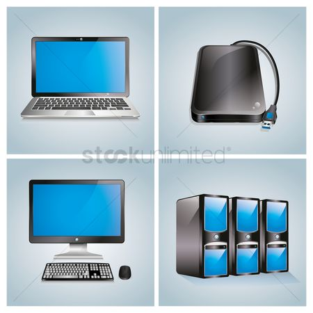 Devices : Set of computer icons