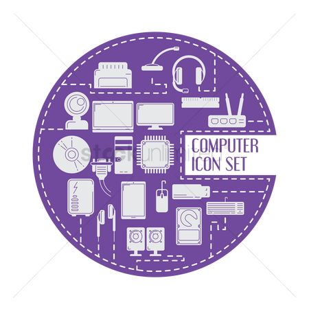 Connector : Set of computer icons