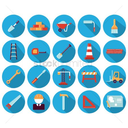 Logs : Set of construction icons