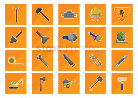 Cutters : Set of construction icons