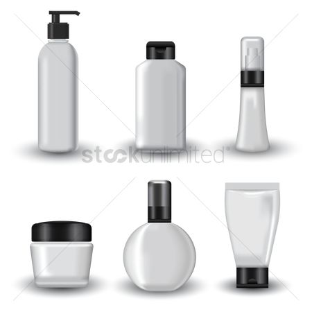 Plastics : Set of cosmetics packages