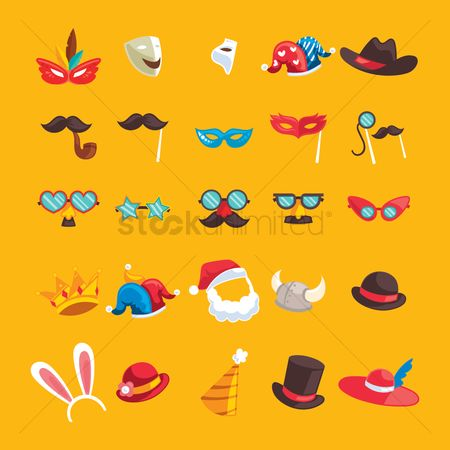 Accessories : Set of costume icons