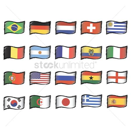 Belgium : Set of country flag icons