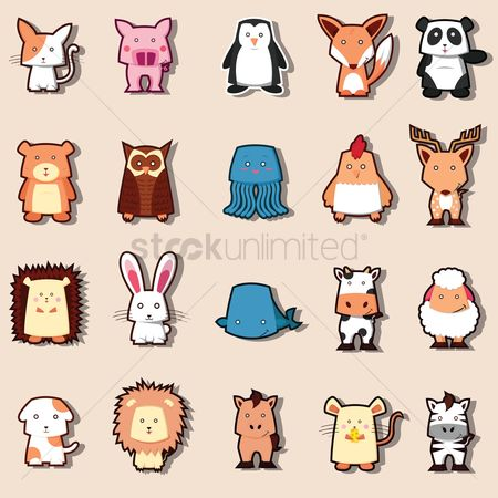 Cow : Set of cute animals