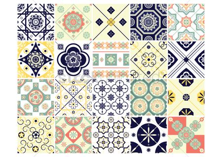 Patterns : Set of decorative background icons