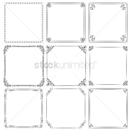 Borders : Set of decorative frames