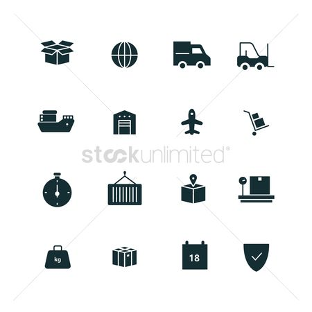 Shield : Set of delivery icons