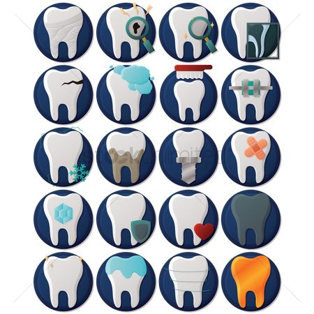 Brushes : Set of dental icons