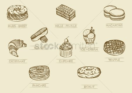 Confections : Set of desserts