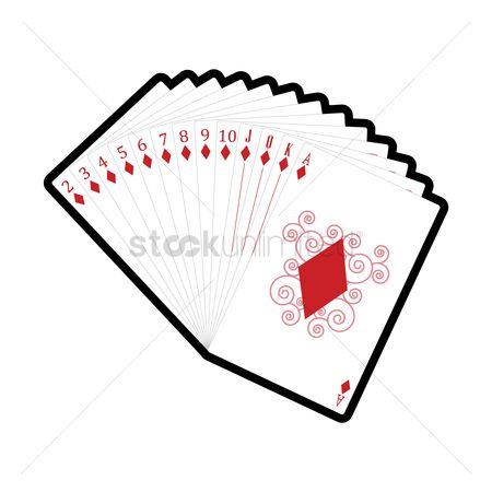 Casinos : Set of diamonds cards