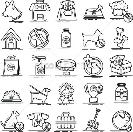 Shops : Set of dog icons