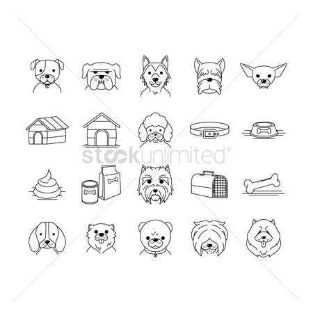 Medal : Set of dog icons