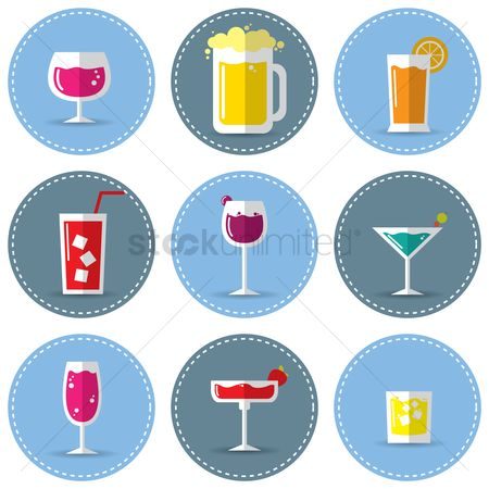 Drinking : Set of drinks