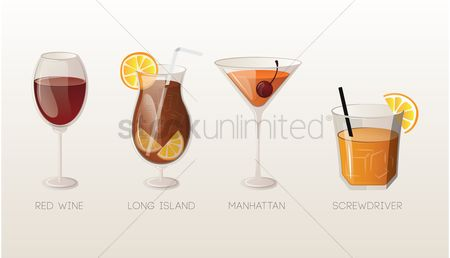 Screwdrivers : Set of drinks