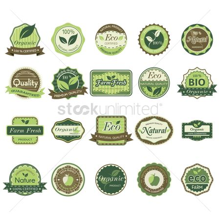 Products : Set of eco labels