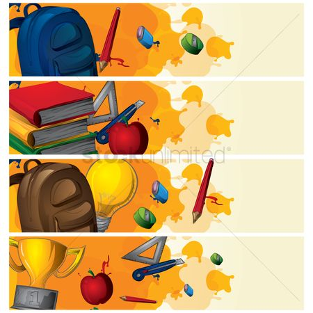 Cutters : Set of education banners