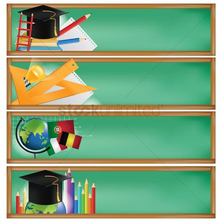 Belgium : Set of education banners