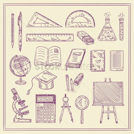 Sketching : Set of education icons