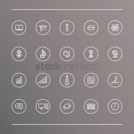 Open : Set of education icons