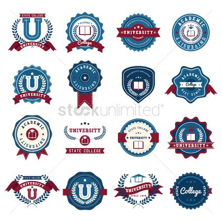State : Set of education logo design icons